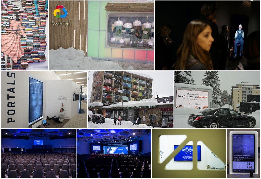WEF 2018 - Digital Signage in Davos (Fotos: WEF)