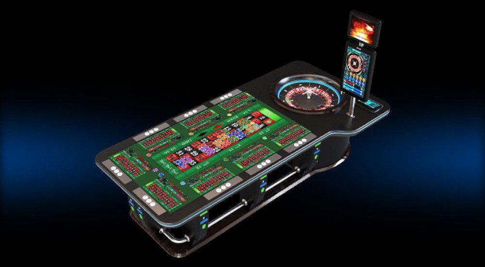 """84"""" Multitouch-Roulette- und Gaming- Tisch mi sechs bis acht einzeln ansprechbaren Touch Zonen für das Vertical Gaming (Foto: Zytronic)"""