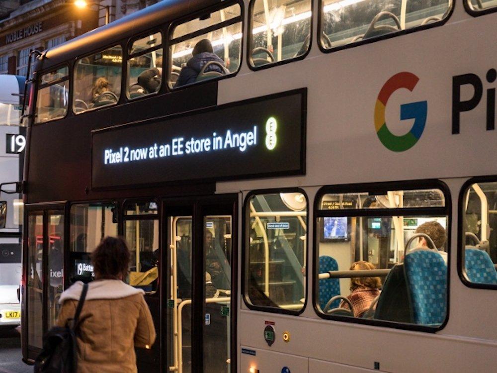 Busse mit digitalen LED Screens und Geotargeting werden bei Exterion Media 2018 weiter ein Thema sein (Foto: Exterion Media)