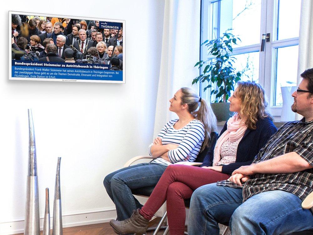 Lokale MDR-News im Programm von TV-Wartezimmer (Foto: TV-Wartezimmer)