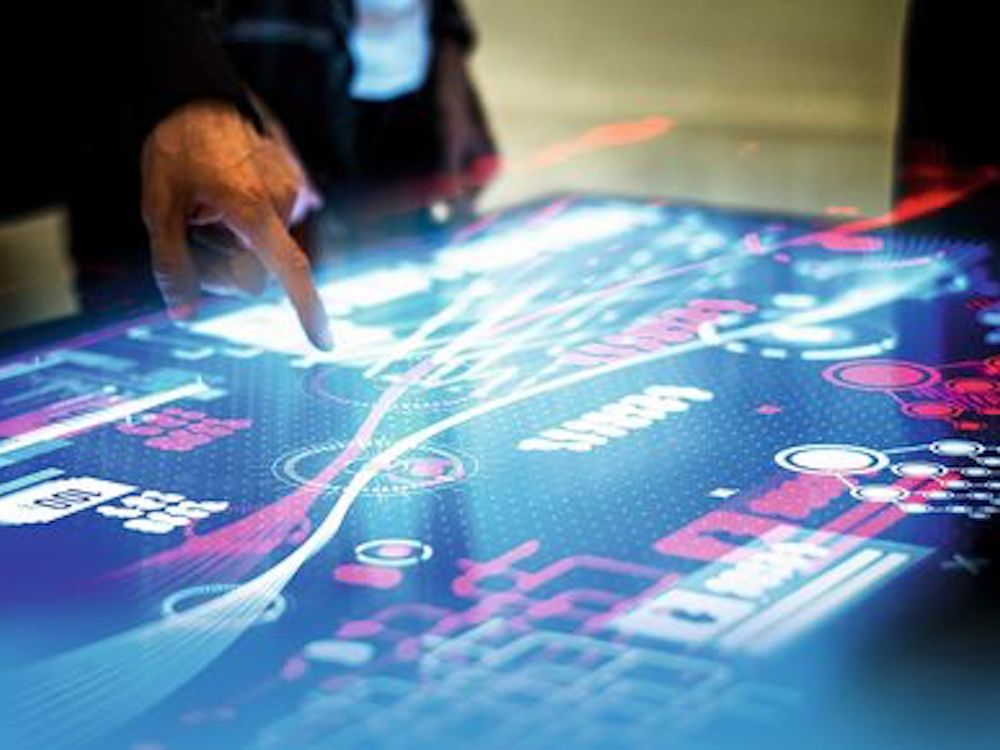 40 Point Multitouch-Tisch mit MPCT-Technologie (Foto: Zytronic)