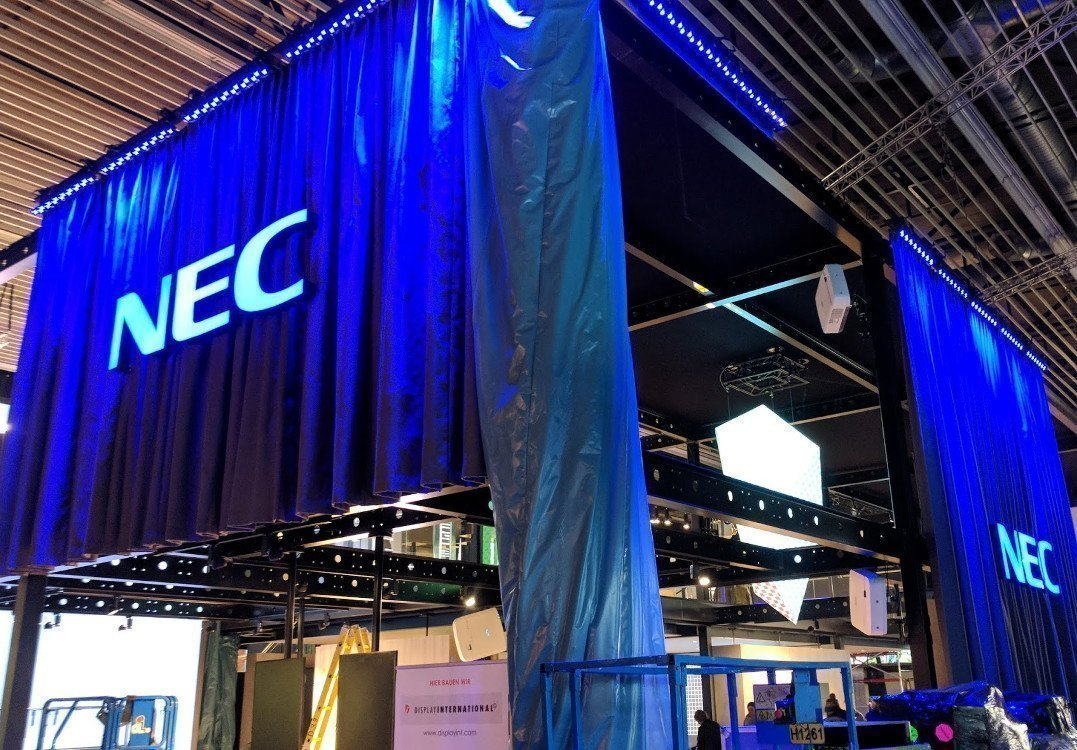 NEC Build-up ISE 2018 (Foto: invidis)