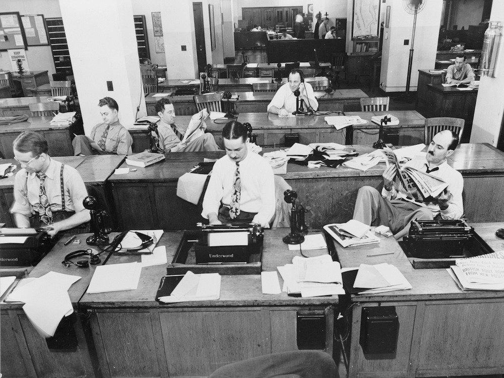 Arbeit im Newsroom der New York Times (Foto: Pixabay / janeb13)