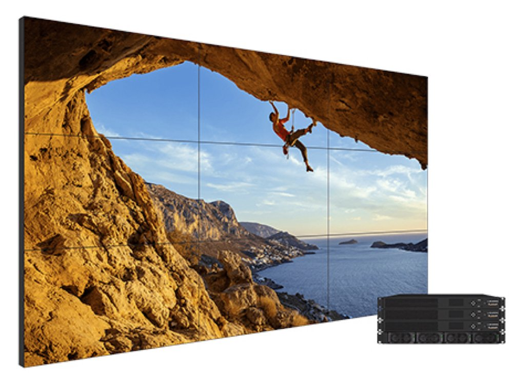 Clarity Matrix G3 Video Wall mit Screens in einer 3x3 Matrix (Foto: Planar)