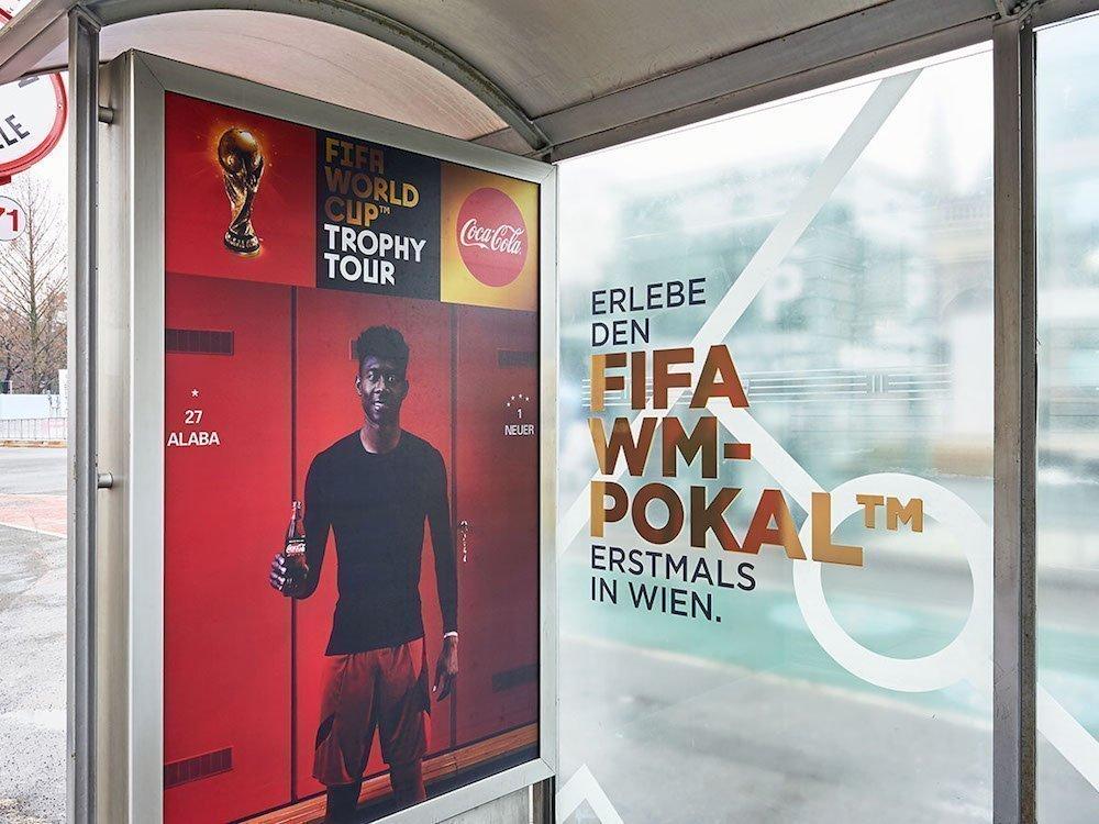 Coca Cola Austria – Out-of-Home und DooH sind im Mediamix enthalten (Foto: Gewista)