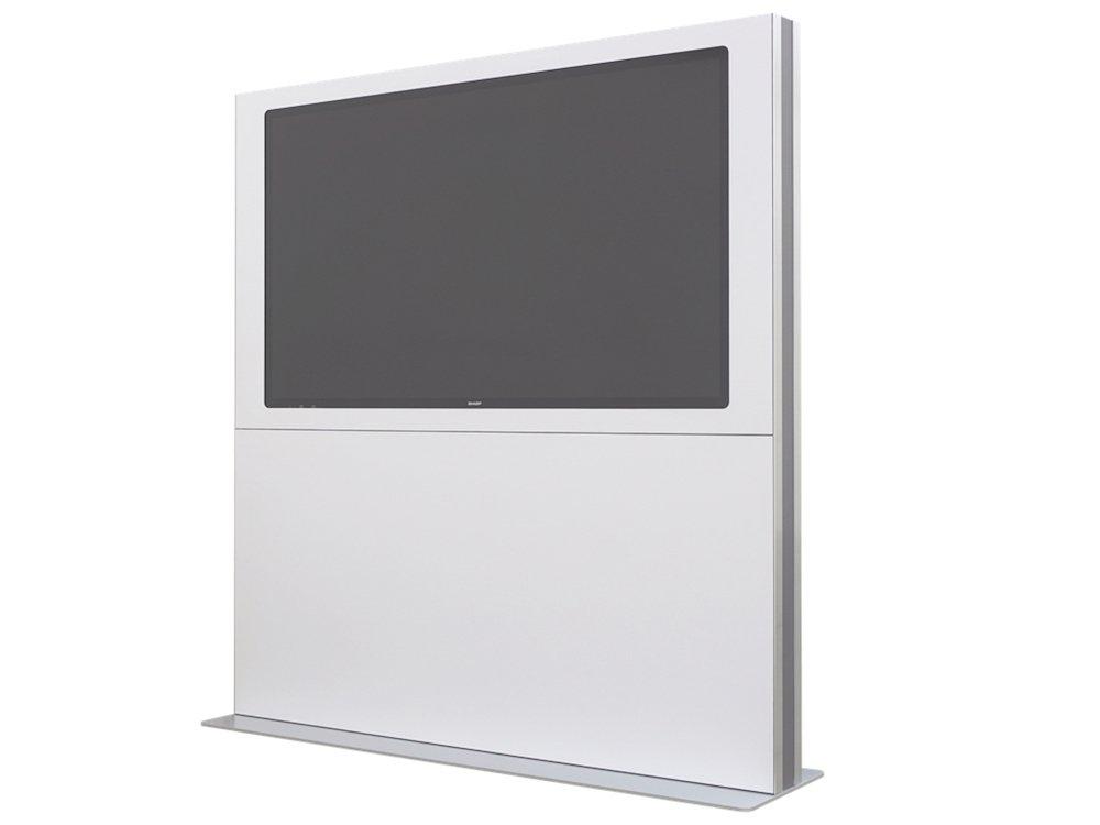 Die Confiwall – hier mit einem Screen von Sharp –nutzt eine optimal durchdachte Konstruktion (Foto: Confiwall)