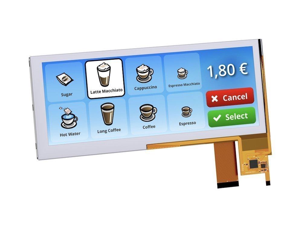 Die neuen Bar Type TFTs lassen sich auch in Vending Machines nutzen (Foto: Evervison Electronic Europe)