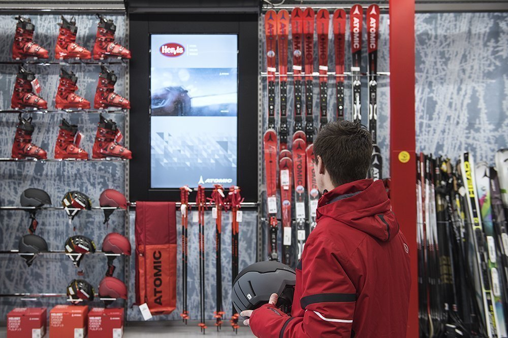 Digital Signage am Point of Sale bei Hervis Sports (Foto: Peakmedia)