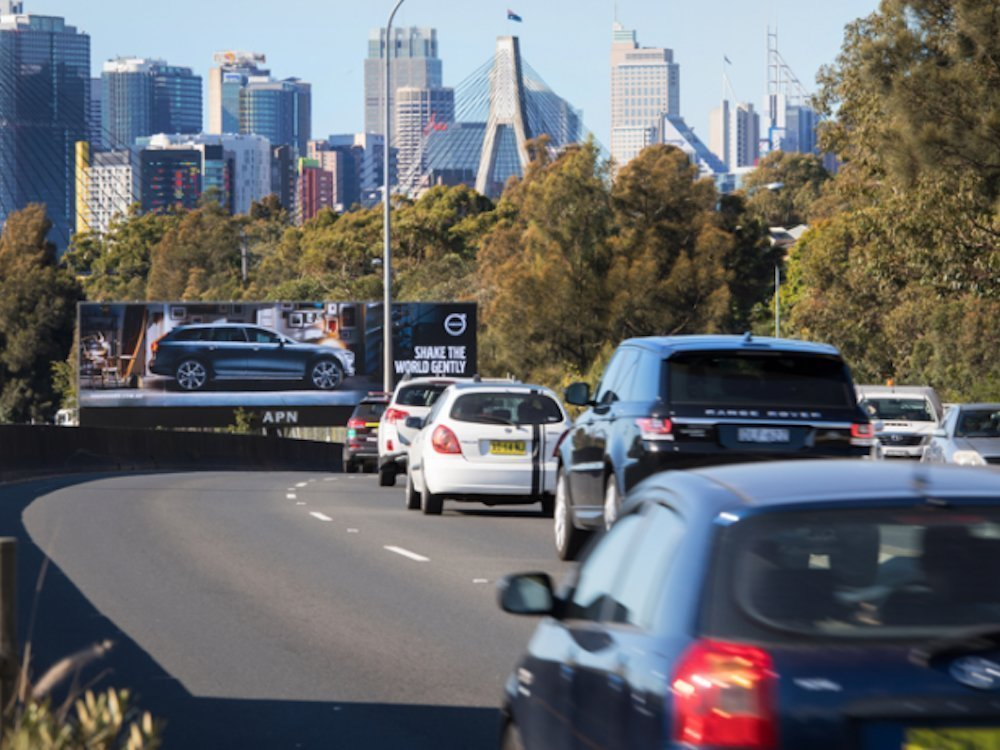 Elite Screen am City West Link in Sydney (Foto: APN Outdoor)