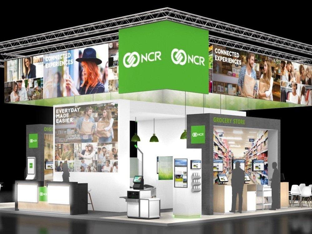 Geplanter Stand von NCR auf der EuroCIS 2018 (Rendering: NCR)