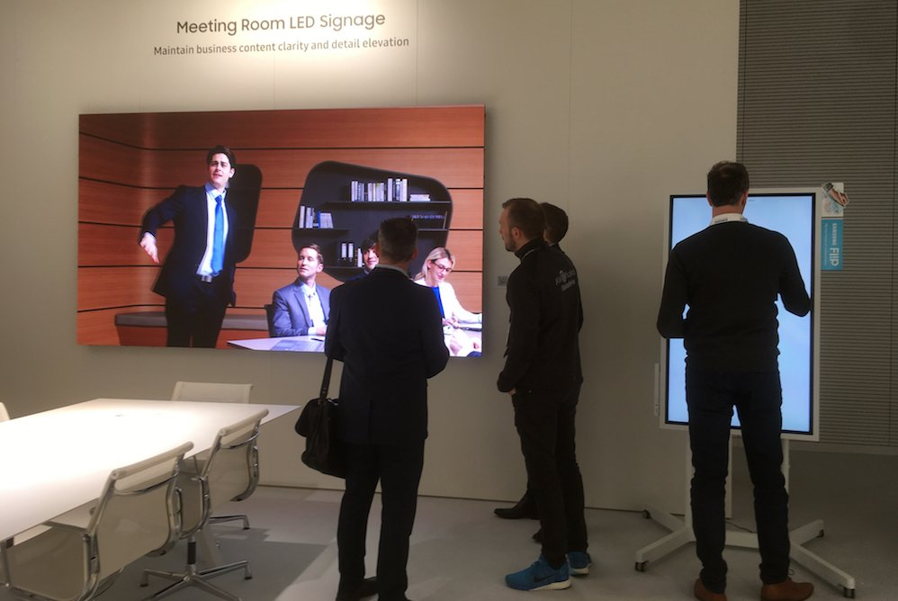 LED Indoor Screen bei Samsung (Foto: invidis)