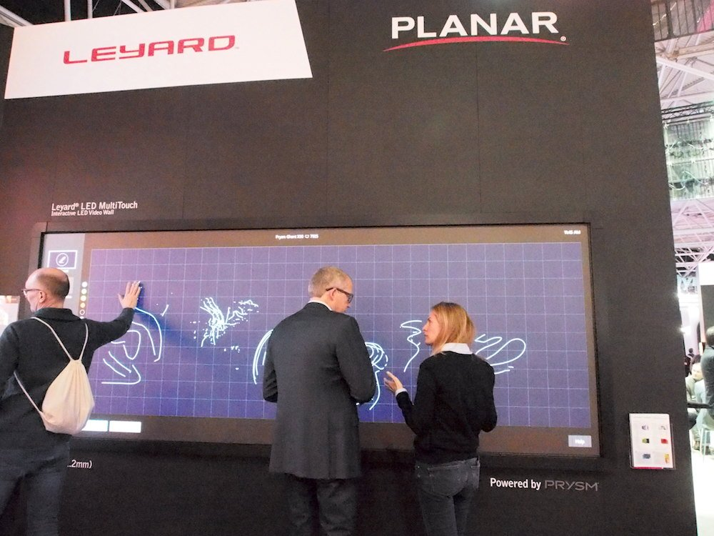 LED Multitouch bei Leyard (Foto: invidis)