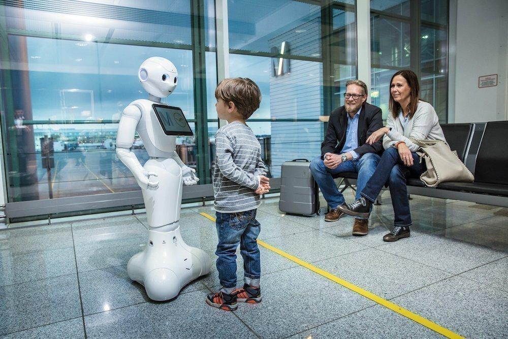 Mit dem test untersuchen Airportbetreiber und Airline die Akzeptanz eines AI-basierten Systems (Foto: FMG)