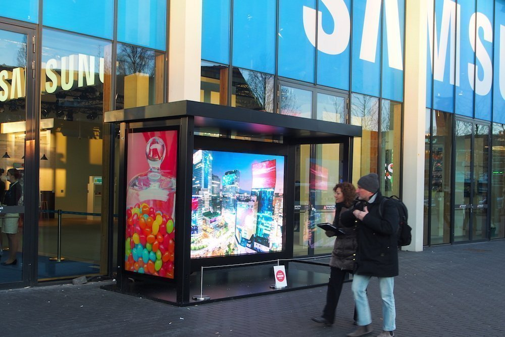 Outdoor Screens von Samsung (Foto: invidis)