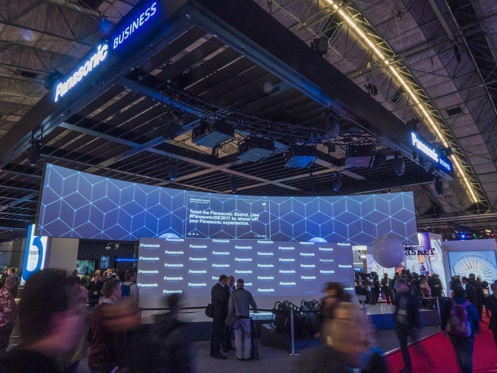 Stand von Panasonic auf der ISE 2017 (Foto: Panasonic)