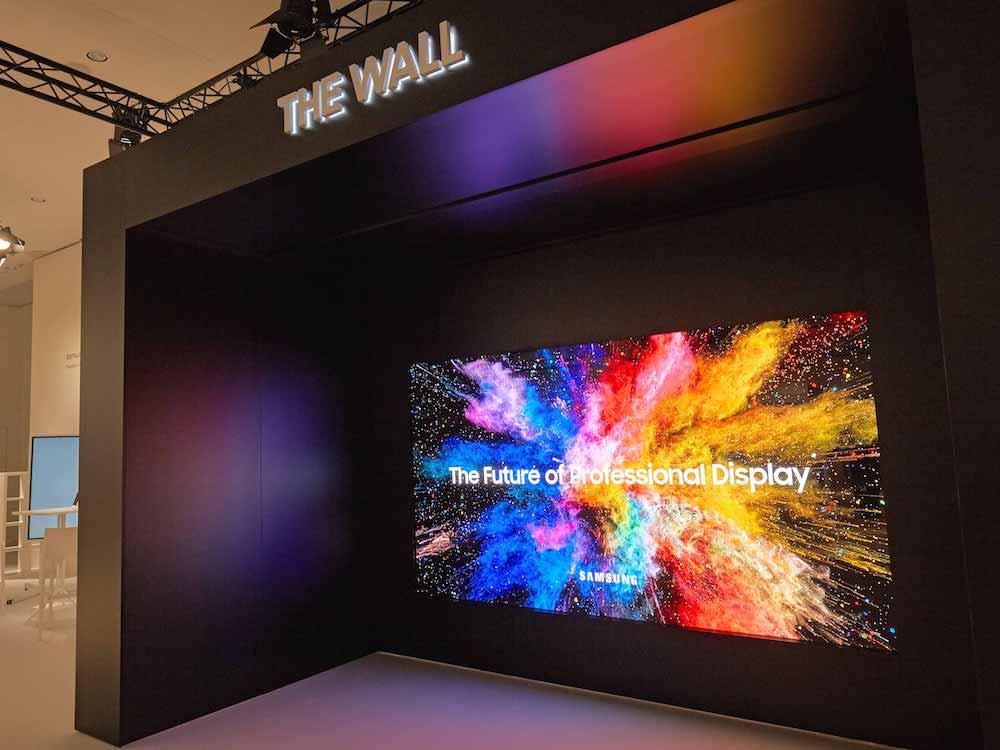 Wall Professional auf der ISE 2018 (Foto: Samsung)