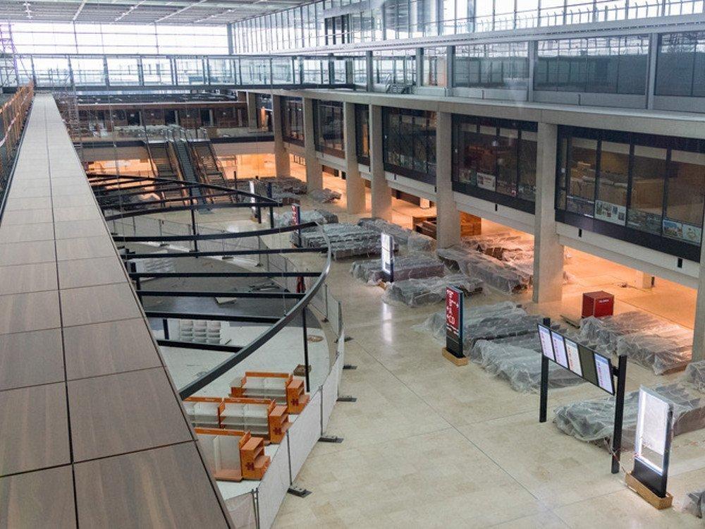 FIDS-Displays am BER (Foto: Flughafen Berlin-Brandenburg)