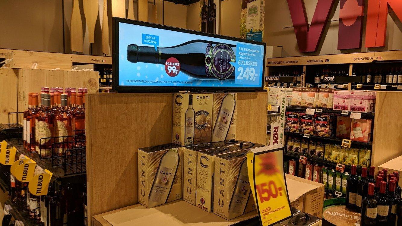 Weinflaschen sind gemacht für Stretched Displays (Foto: invidis)