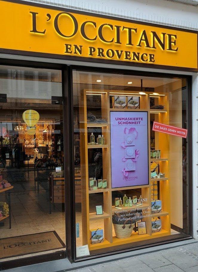 L'Occitane Schaufenster (Foto: invidis)