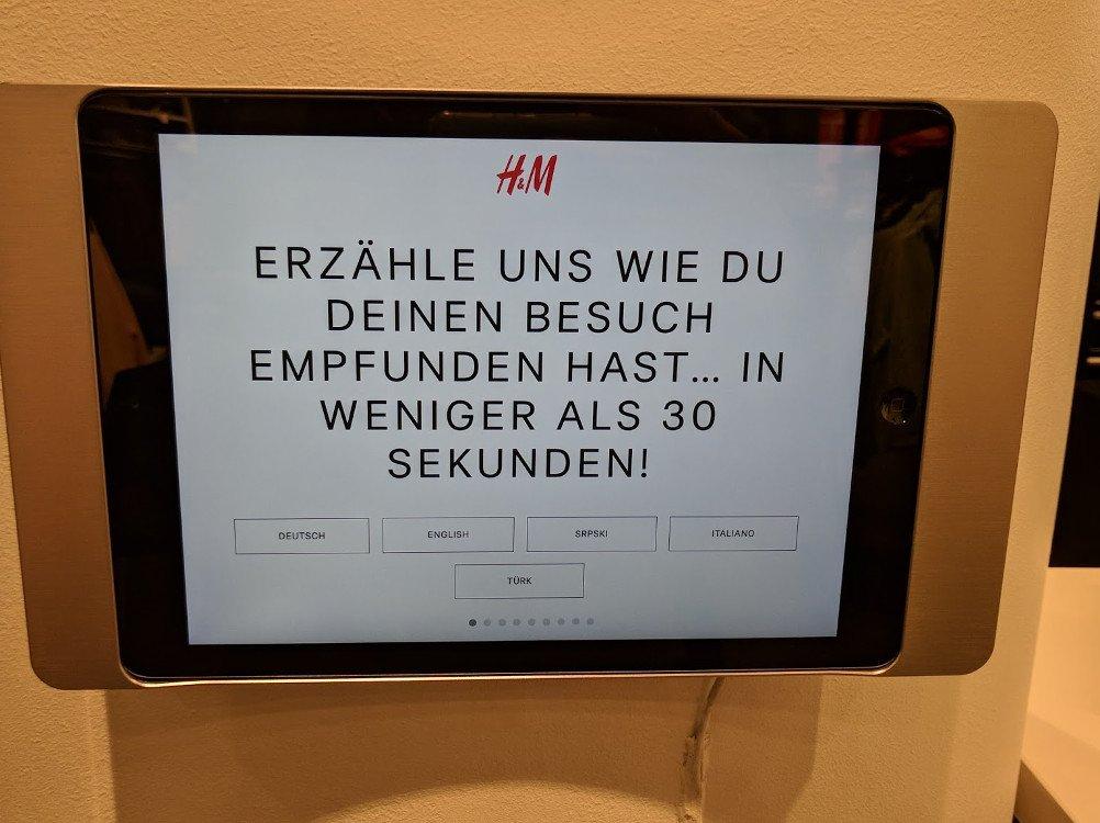 H&M Feedback Terminal Innsbruck (Foto: invidis)