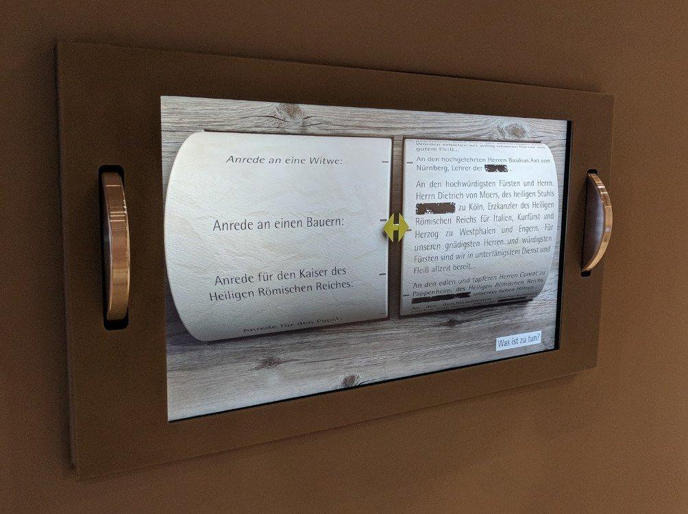 Cadolzburg - Interaktiver Content lädt zum Erleben ein (Foto: invidis)