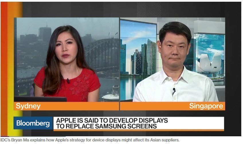 Bloomberg über Apple MicroLED Pläne (Foto: Screenshot)
