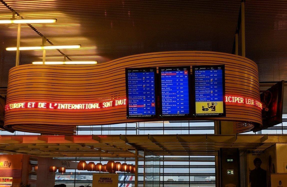 FIDS am Flughafen Toulouse (Foto: invidis)
