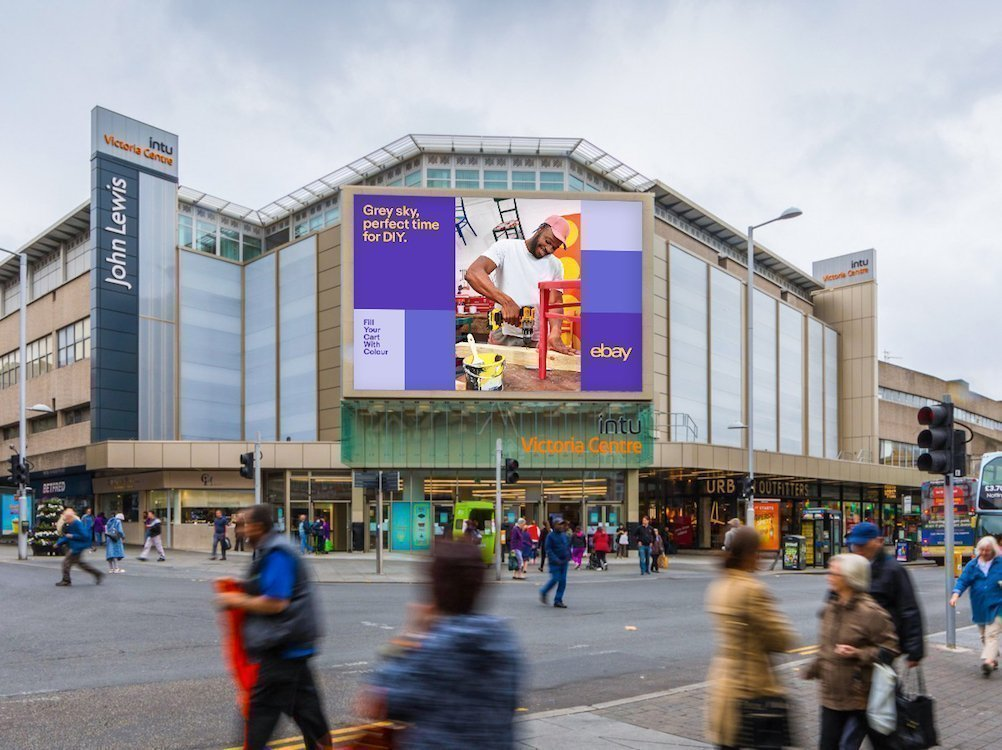 Aktuelle Kampagne von eBay in Nottingham (Foto: Grand Visual)