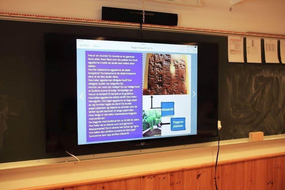 Die klassische Tafel wird um den Screen ergänzt (Foto: Sony)