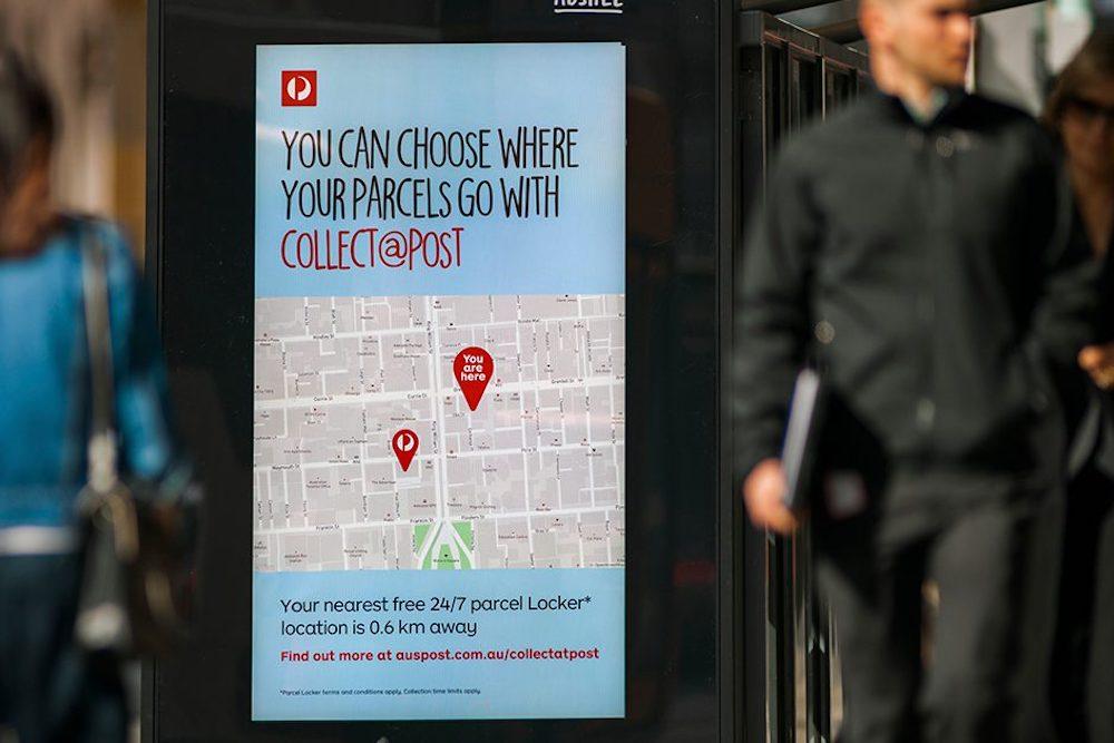 Arbeitete mit Geo-Lokalisierung – dynamische Kampagne für Australia Post in Perth (Foto: Posterscope)