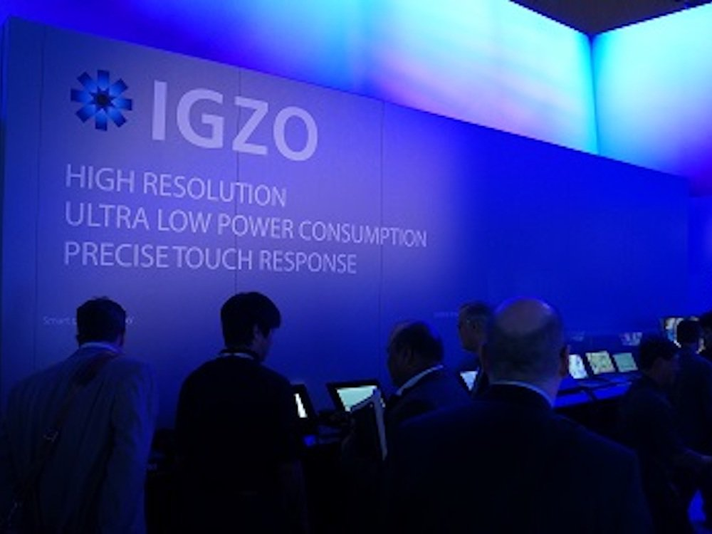 Igzo Screens von Sharp auf der CES 2014 (Foto: Sharp)