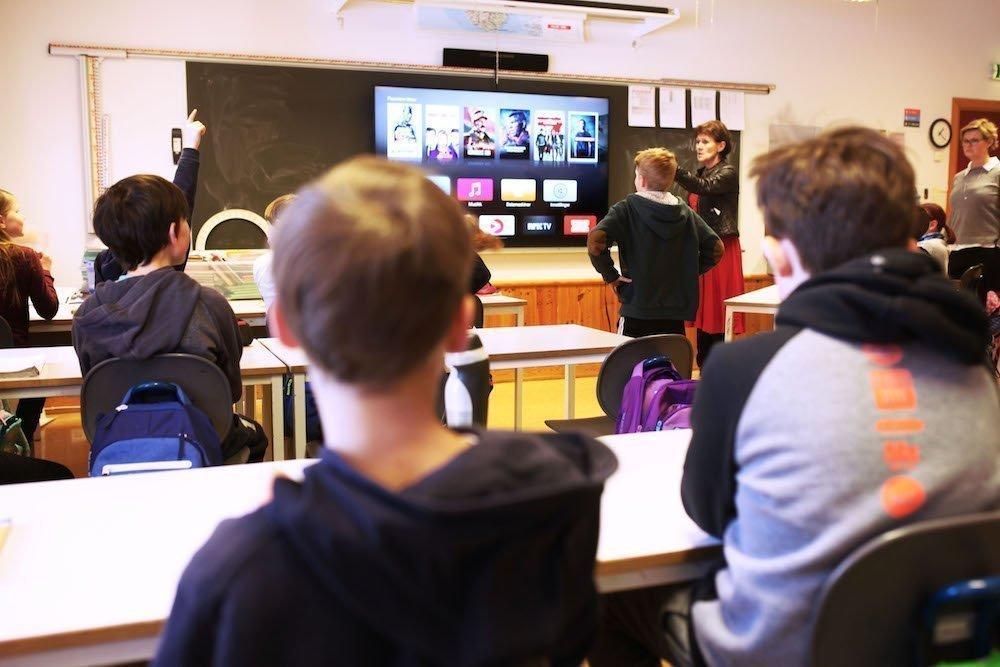 Interaktion wird im Unterricht groß geschrieben (Foto: Sony)