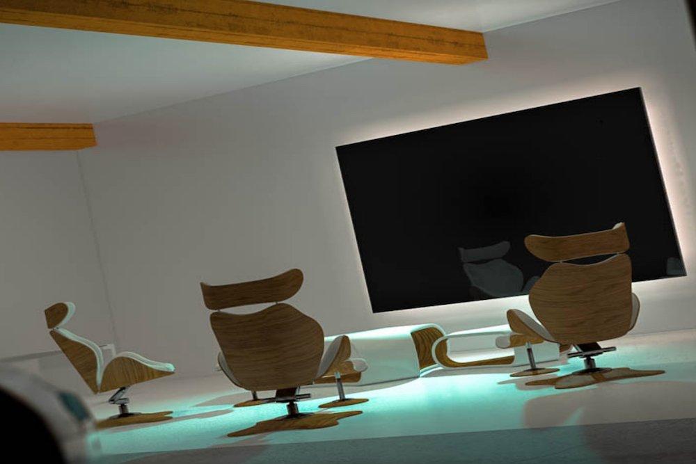 Ist die Hütte abbezahlt, kann man einen von acht teuren TVs bei Titan Screen ordern (Screenshot: invidis)