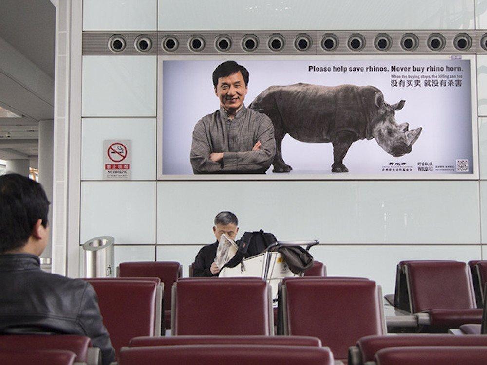 Jackie Chan ist eines der Testimonials der Kampagne (Foto: JCDecaux)