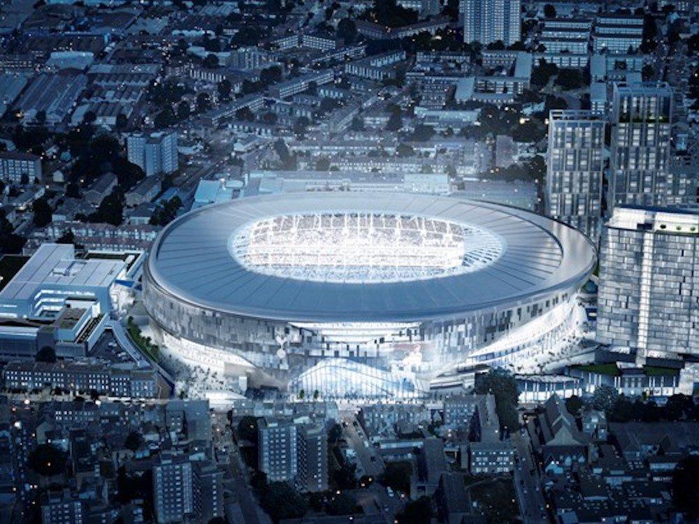 So wird das in Bau befindliche Stadion bei Nacht aussehen (Foto / Rendering: Tottenham Hotspur)