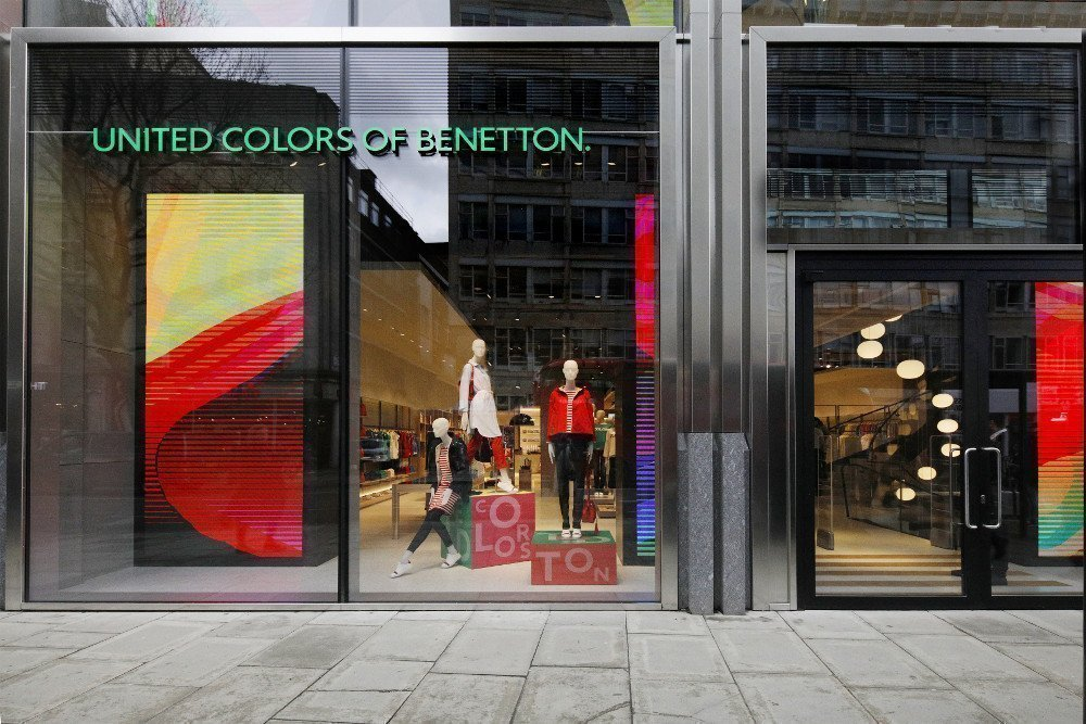 LED im Benetton Flagship (Foto: London)