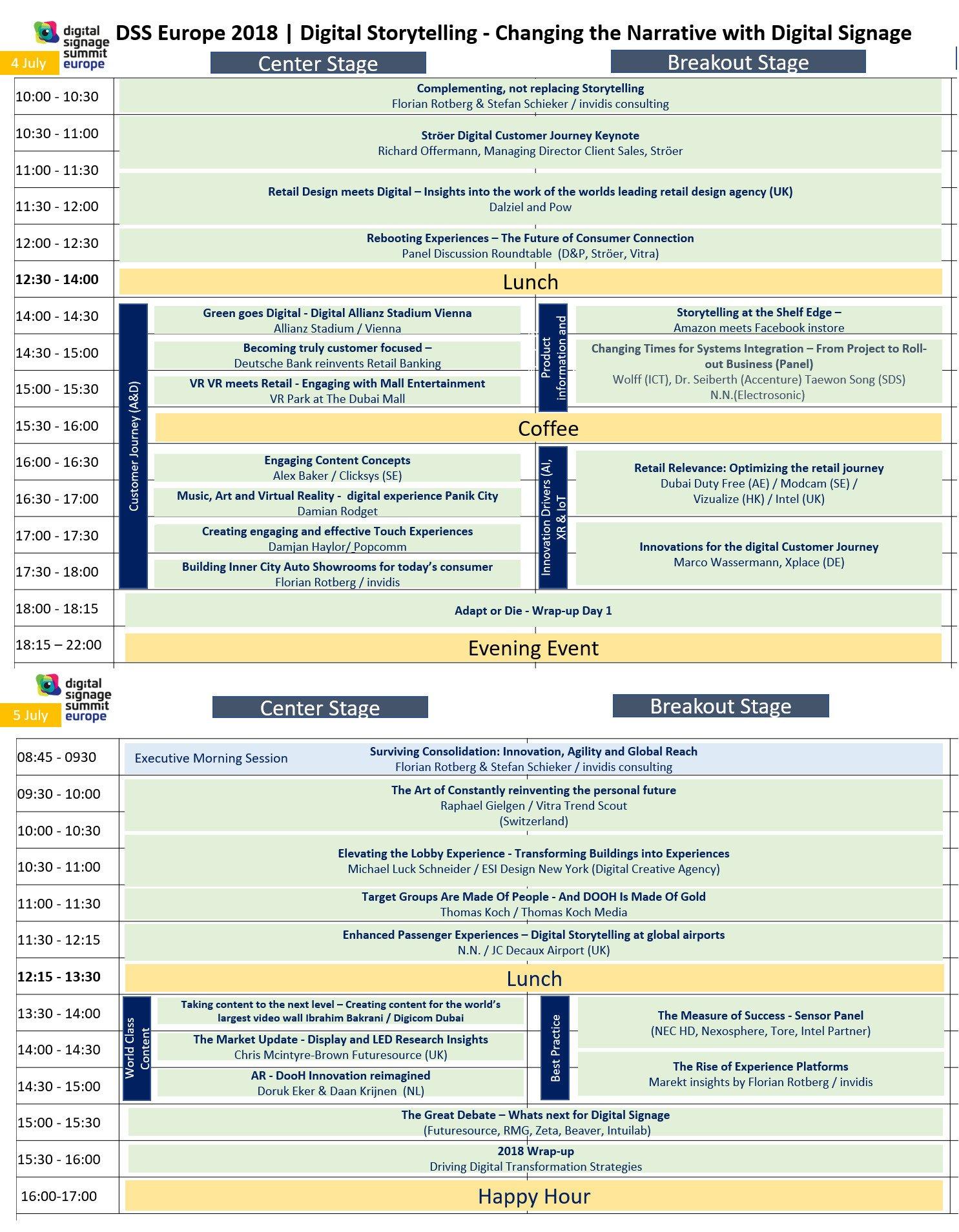 Akuelle DSS Europe Agenda (Foto: invidis)