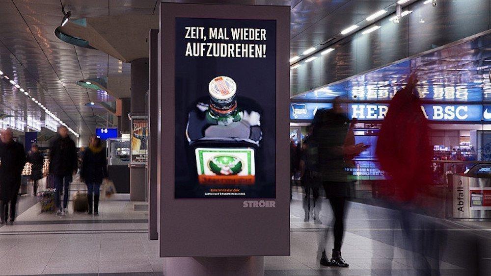 Bahnhöfe waren ein Schwerpunkt der Kampagne (Foto: Ströer)
