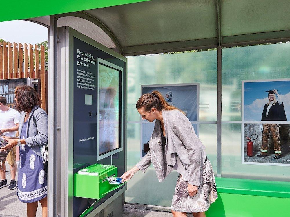 Beispiel für eine interaktive Aussenwerbekampagne in Österreich – Symbolbild (Foto: Gewista)