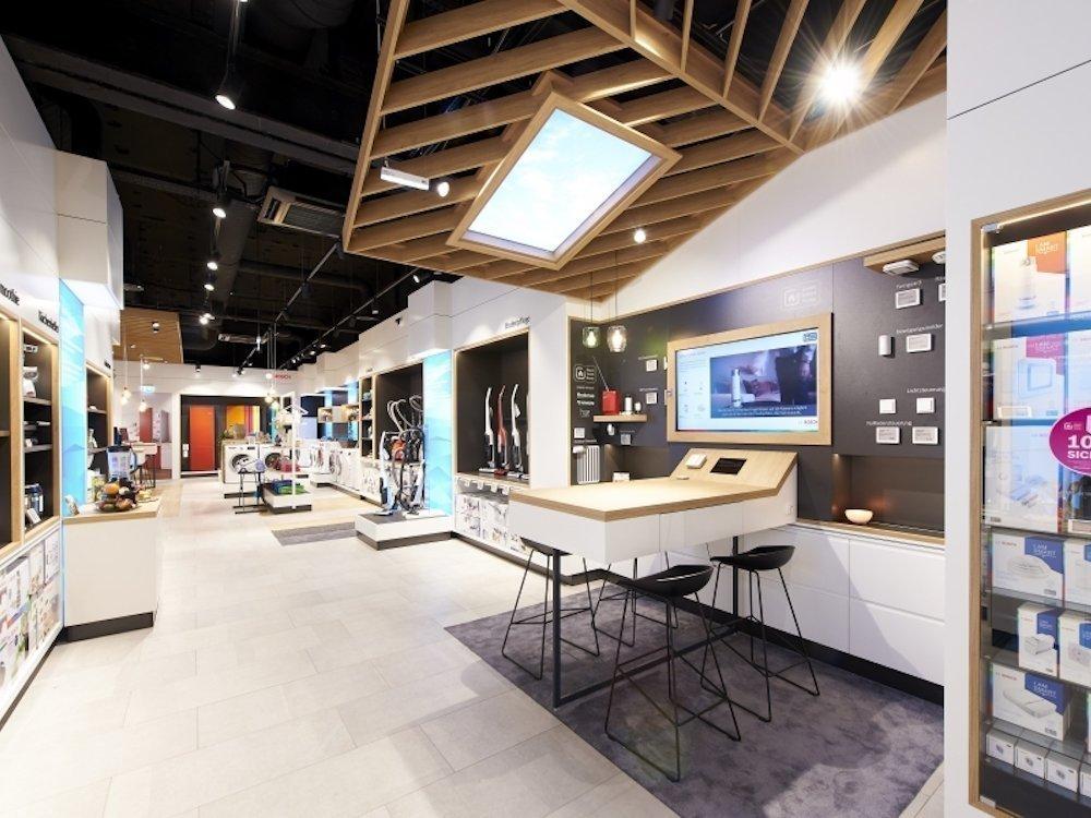 Blick in den Store von Bosch Hausgeräte (Foto: Umdasch)