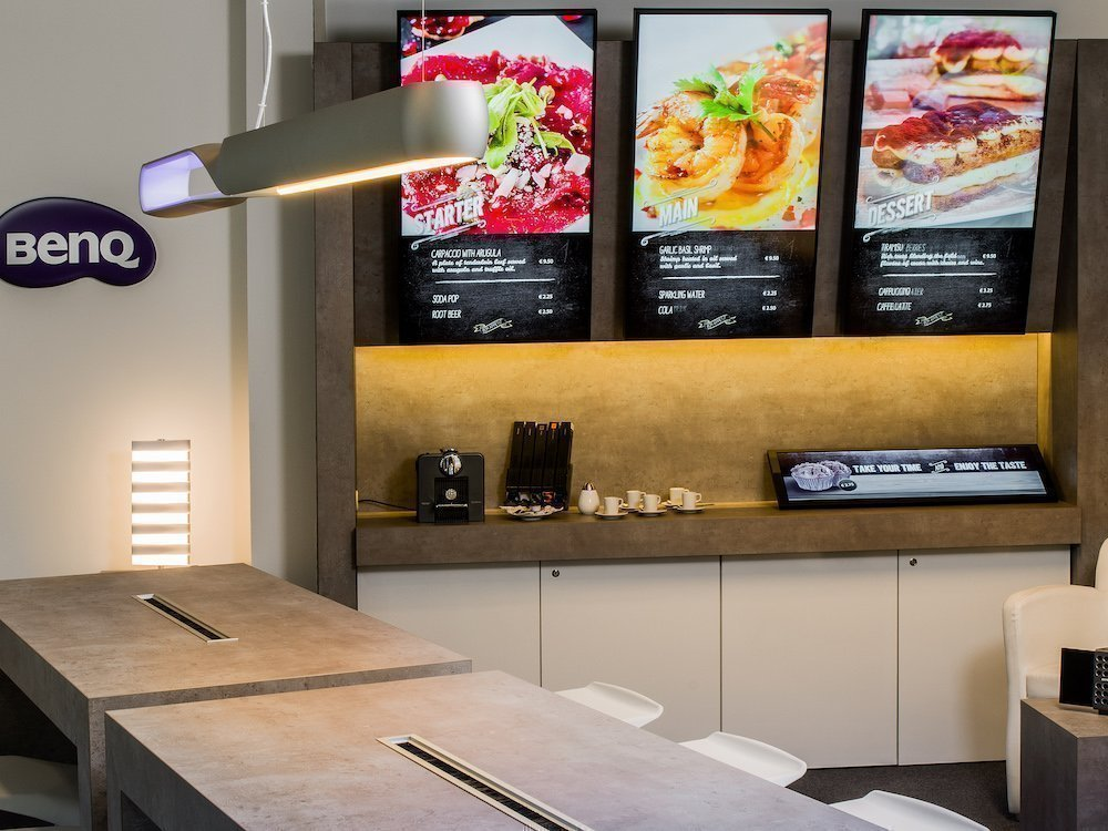 Digital Signage-Installation im BenQ-Showroom in Oberhausen (Foto: BenQ)