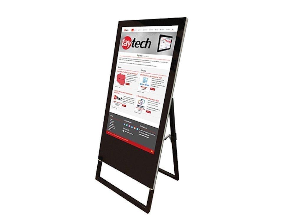 Digitaler Kundenstopper von Faytech (Foto: Faytech)