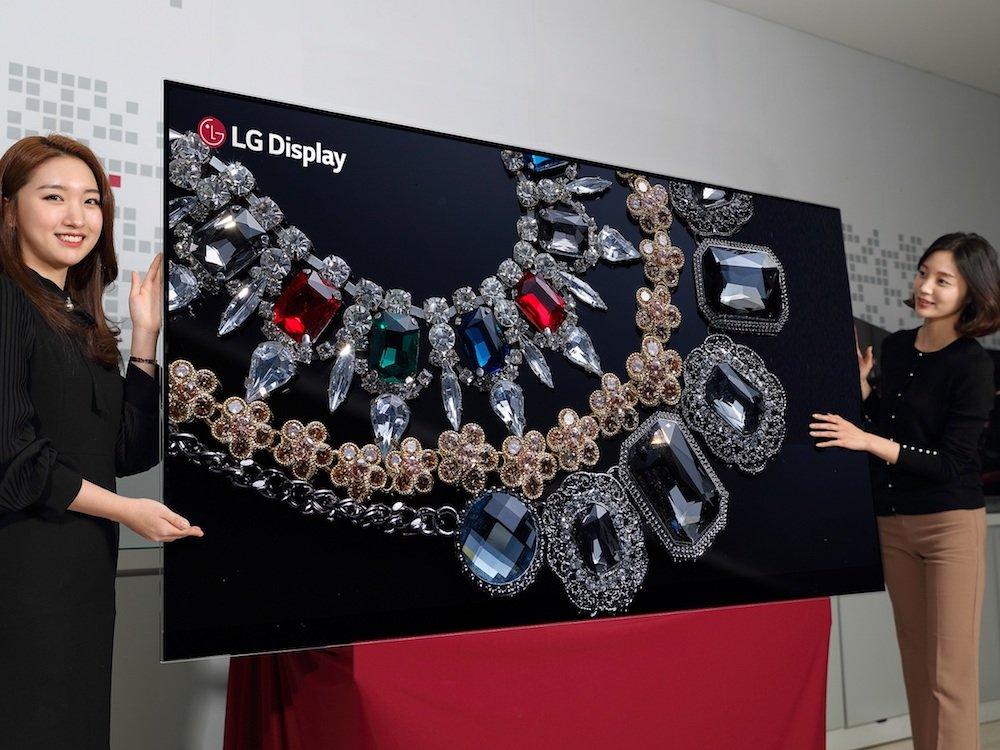 """Ein Traum in Schwarz mit 33 Mio. Pixeln – weltweit erstes 8K 88 """"OLED Display (Foto: LG Display)"""