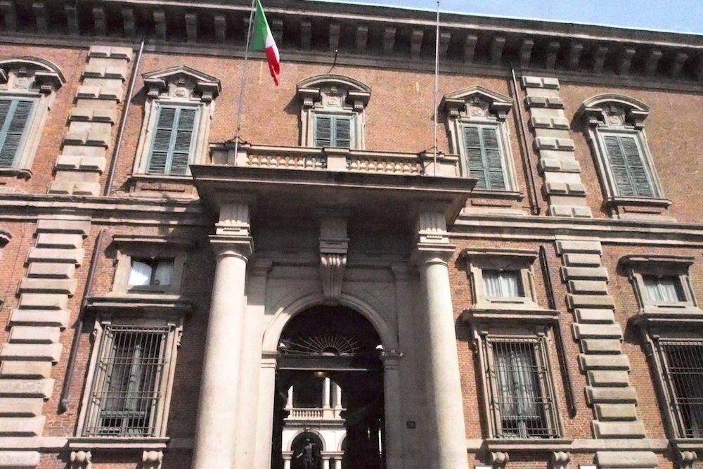 Eingangsportal des Palazzo di Brera (Foto: invidis)
