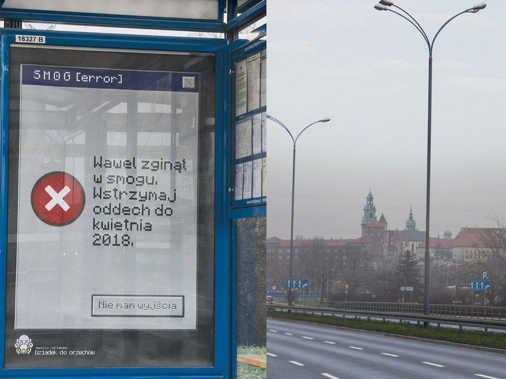 Krakau – Historische Gebäude verschwinden im Gift Nebel (Foto: Dziadek Do Orzechow)