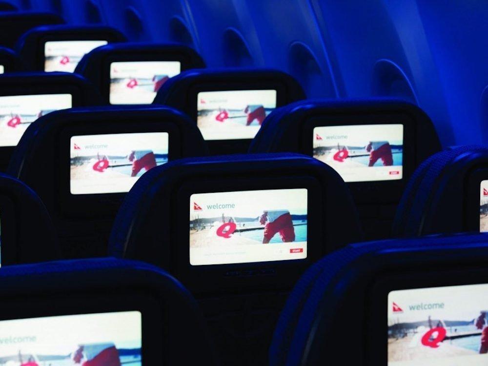 Inflight Entertainment Screens bei Qantas (Foto: oOh! Media)