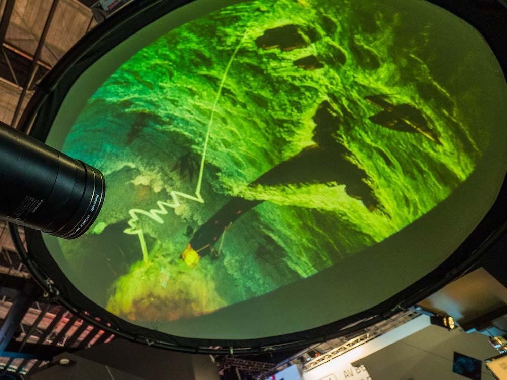 Kuppel-Projektion von Panasonic hier auf der ISE 2018 (Foto: Panasonic)