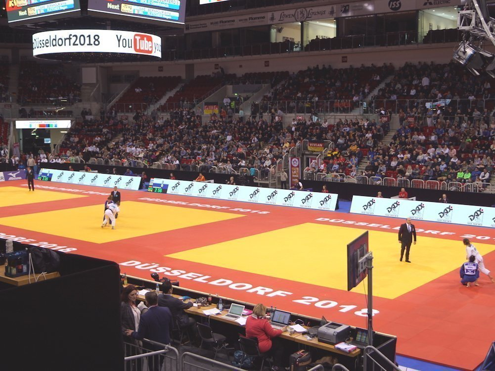 LED-Bandensystem mit InnScreen R5 beim Judo Grand Slam 2018 in Düsseldorf (Foto: Innlights Displaysolutions)