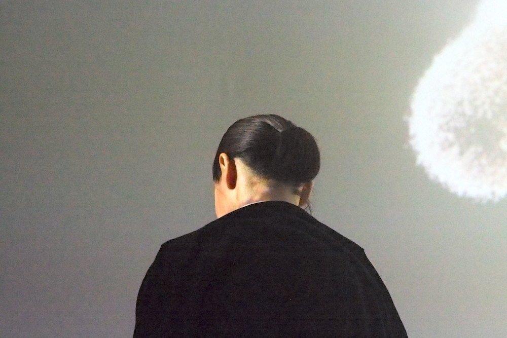 Meditation - Zuschauerin während der Vorführung (Foto: invidis)