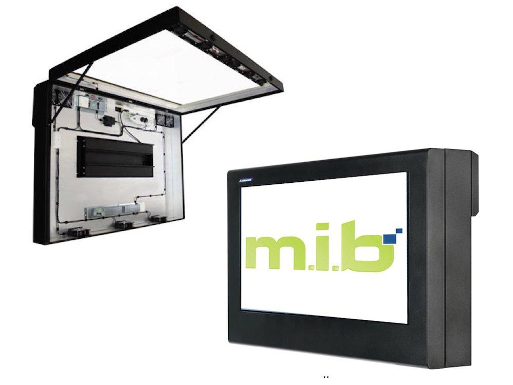 Mit dem neuen Box System will m.i.b Outdoor Signage noch günstiger machen (Fotos: m.i.b)